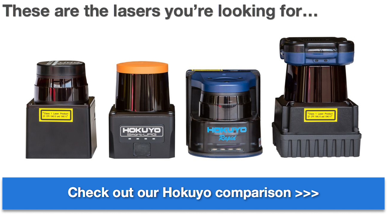 Acroname Hokuyo comparison guide