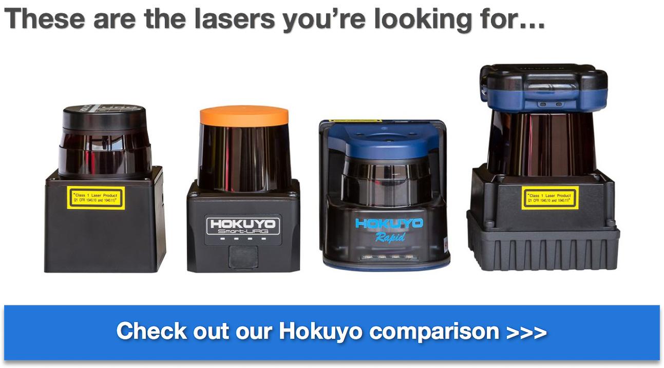 Acroname Hokuyo comparison guide