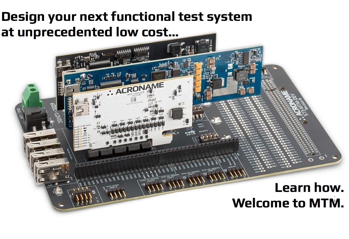 Low-Cost Development Platform and Modules for Manufacturing Functional Testing