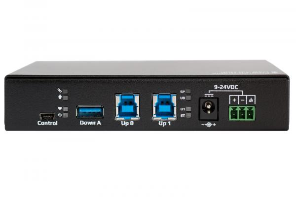 Programmable Industrial USB 3.0 Hub (8 Ports) back panel