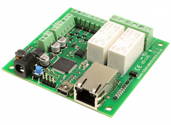 Devantech dS1242 2x16A Ethernet Relay with Digital Switching I/Os