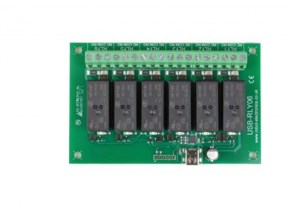 Devantech USB-RLY06 - 6 x 16A USB relay