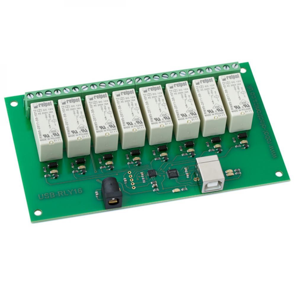 Devantech 8 Channel 16A USB Relay Module