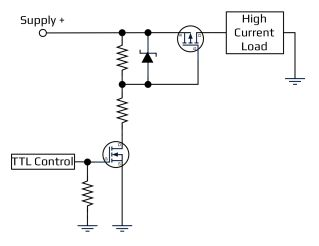Acroname Common High Side P Channel MOSFET Switch diagram