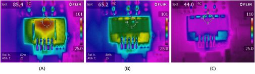 Acroname Thermal heating across a linear regulator with common configurations image