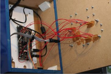 cluttered wiring example photo