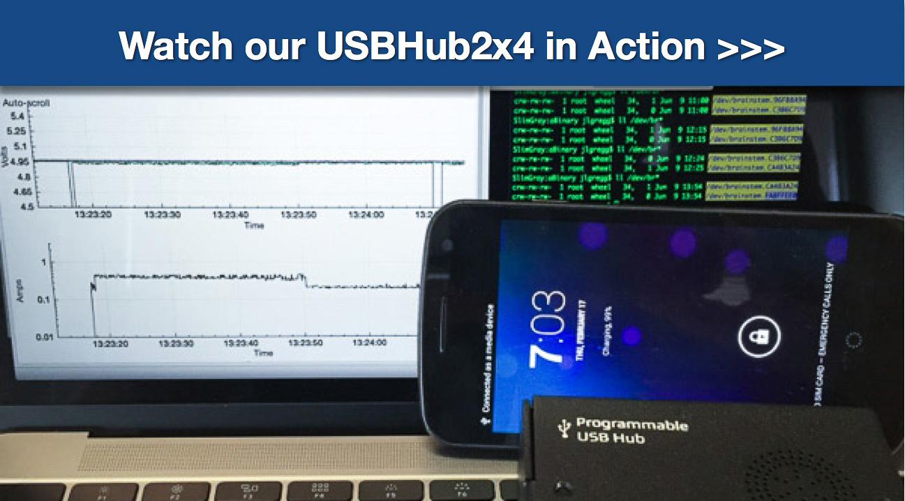 Acroname software control of a USB Hub